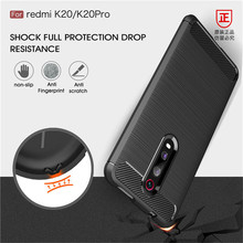For Xiaomi MI 9 9T Pro Case Luxury Soft Silicone Carbon Fiber Shockproof Armor Cases for Redmi K20 Tpu Back Capa