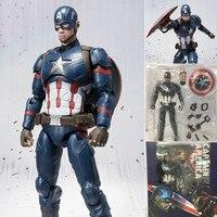 Steve Rogers Captain America Postać Civil War Tony Stark Iron Man Action Figures Toy Doll Model Prezent Darmowa Wysyłka