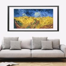 Wheatfield With Crows 1890 Canvas Art Print Painting Poster Wall Pictures For Living Room Home Decorative Bedroom Decor No Frame(China)