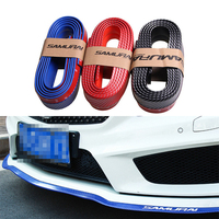Universal Carbon Fiber 2 5m Car Front Skirt Protector Car Front Lip Bumpers Car Rubber Strip