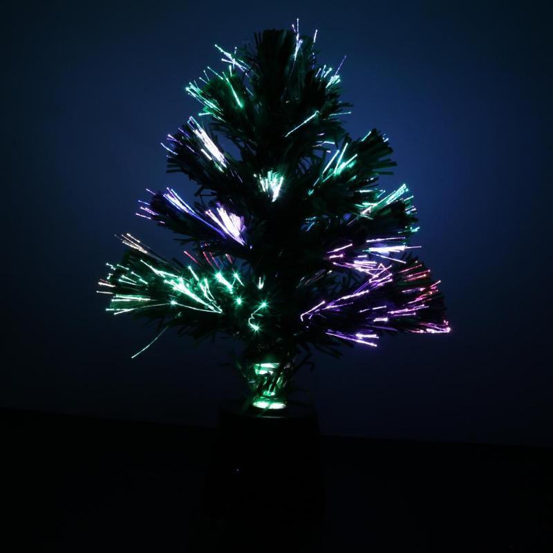 Us 6 43 29 Off 30cm Mini Fiber Optic Desktop Usb Charge Christmas Tree Lighting Miniature Pine Ornament Party Home Decorations 2018 New Arivall In