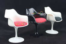 Mini Tulip Armchair Chair Furniture For Barbie Blythe Dollhouse Miniature 1:6 Black White Red Simulation Furniture Pretend Play