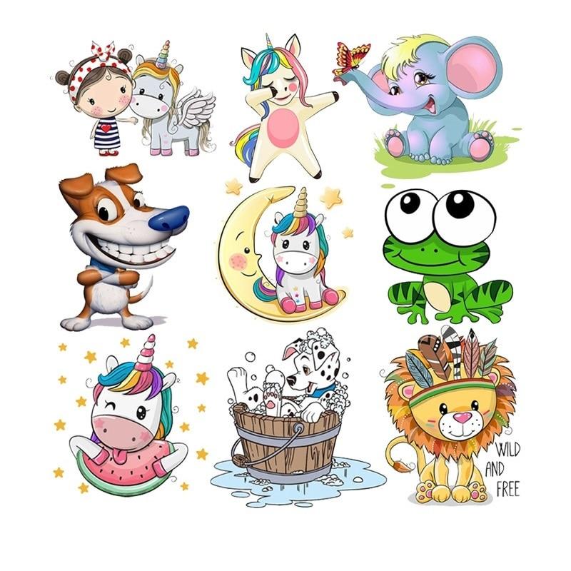 Милые животные, утюжок для передачи тепла, патчи для детской одежды, сделай сам, полосы, Бабочка, аппликация, Детская футболка, наклейки на заказ Заплатки      АлиЭкспресс