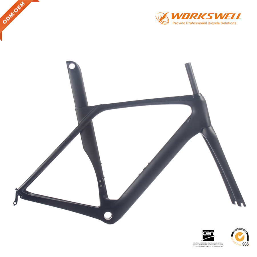 Hot sale carbon bicycle frame road carbon frame aero OEM carbon frame carbon fiber road bike frame