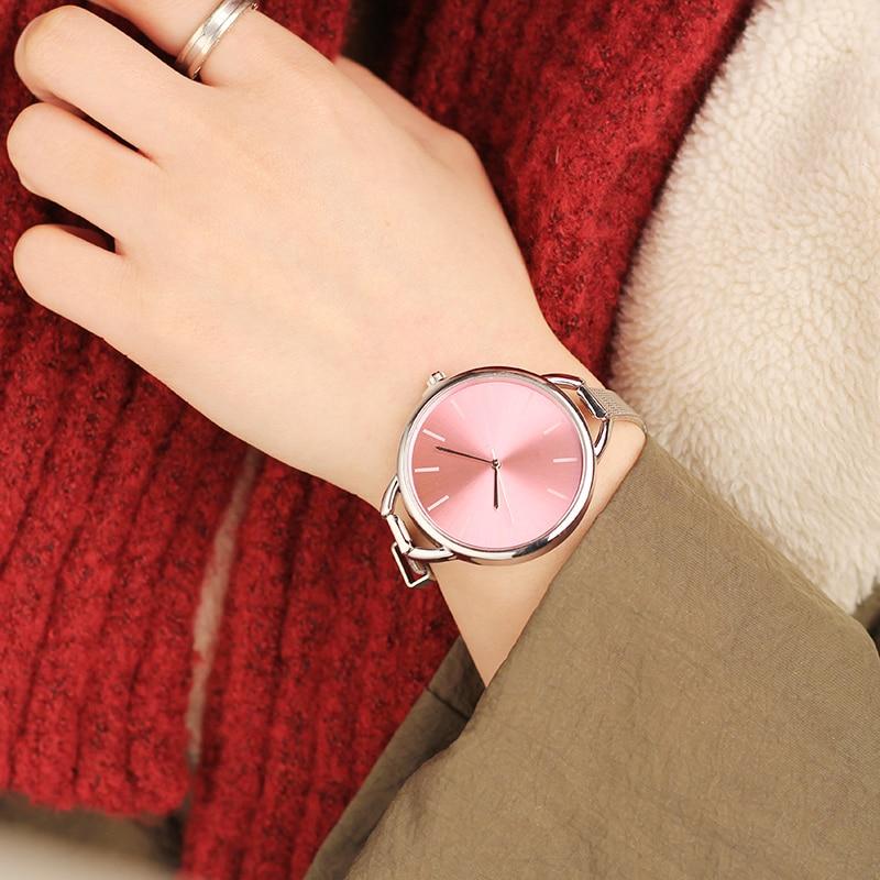 2019 CMK Luxury European Style Ladies Watches Stainless Steel Elegant Big Dial Women Watch Casual Dress Female Wristwatch Clock