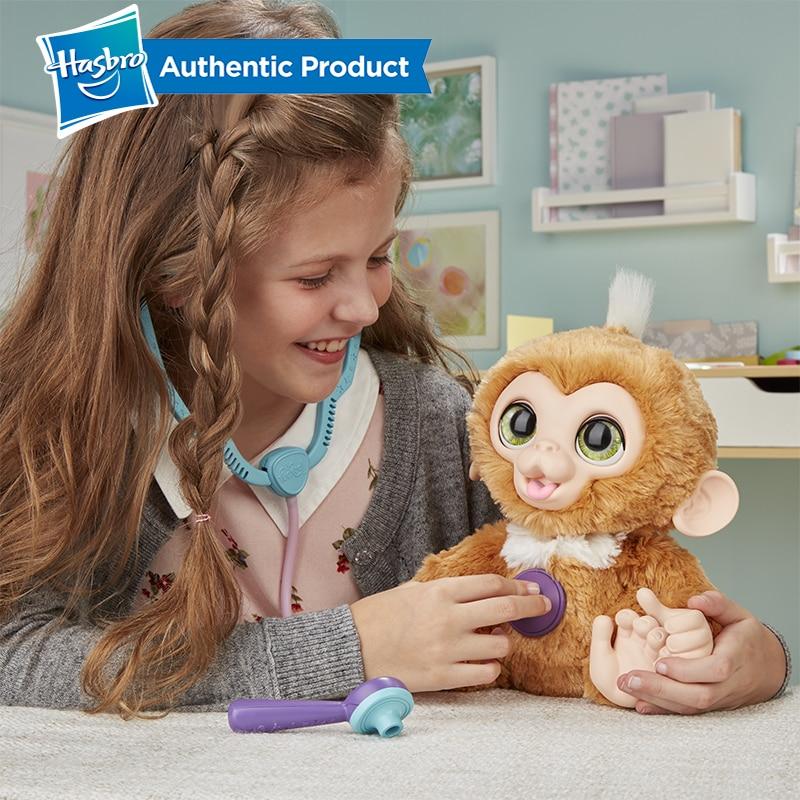 Hasbro Furreal Check-up Zandi Sweet Little Monkey Plush Stuffed Toy Can Make A Sound Child Birthday Christmas Present 4