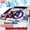 Car cartoon Marvel US captain Front window sunshade & winter frost snow shade Foils Windshield Visor Cover UV Protect Car Film