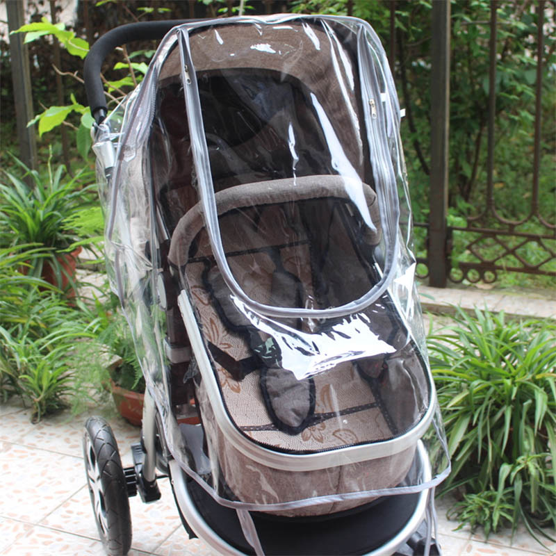 Plastic Baby Stroller Rain Cover Pushchair Raincoat Thickening Outdoor Windscreen Dust Cover For Pram 998