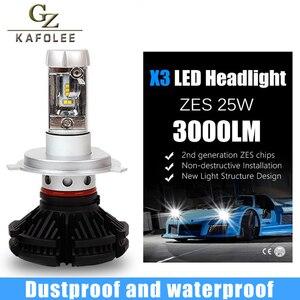 Image 5 - GZ KAFOLEE 2 Pcs אוטומטי פנס h4 led גבוהה נמוך Beam H1 H3 H7 6000LM H8 H9 H11 9005 9006 12V 24V LED פנס הנורה סופר מואר