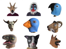 1 Pc Animal Head Mask Halloween Party Costume Cosplay Supplies Dinosaur Baboon Duck Parrot Masquerade Latex Masks Funny Toys