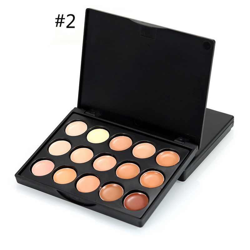 15 kleuren Volledige Cover Concealer Palette Vrouwen Professionele Contour Concealer Palette Gezicht Dark Circle Cream Cosmetica
