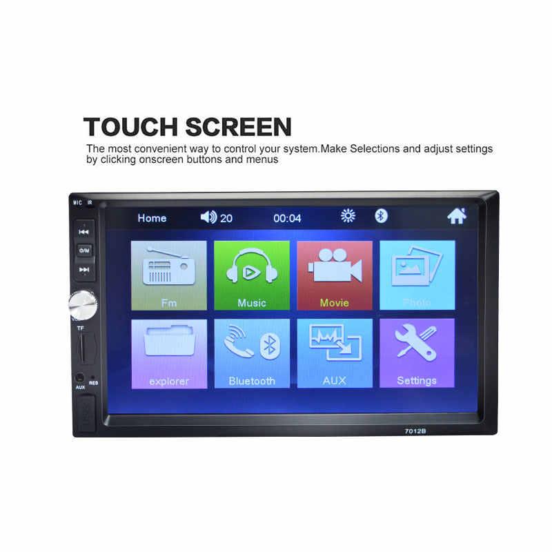 """7012B Autoradio 2 Din カーラジオの Bluetooth 2din マルチメディアプレーヤー 7 """"HD タッチ MP5 USB 自動オーディオステレオとリアビューカメラ"""