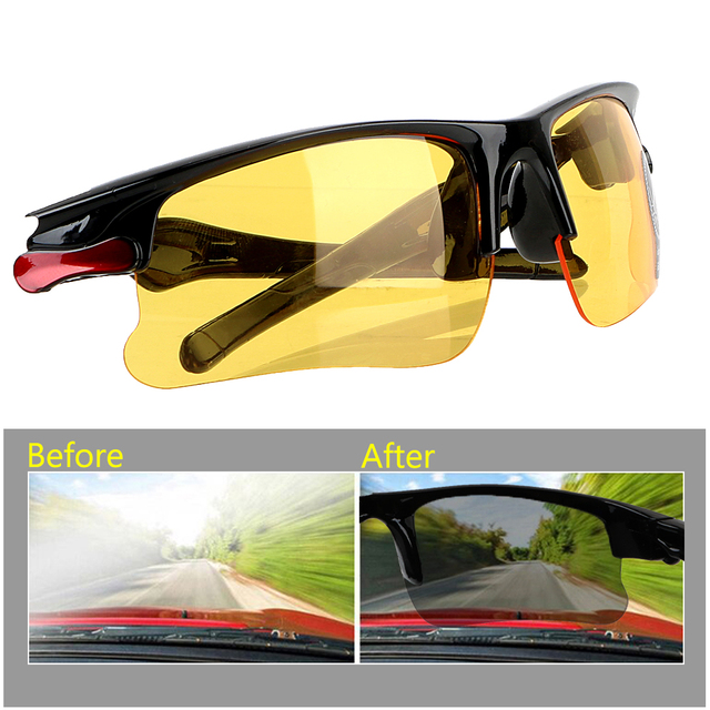 2916d51669a Night-Vision Glasses Driving Glasses Anti Glare Night Vision Drivers Goggles  Protective Gears Sunglasses Interior