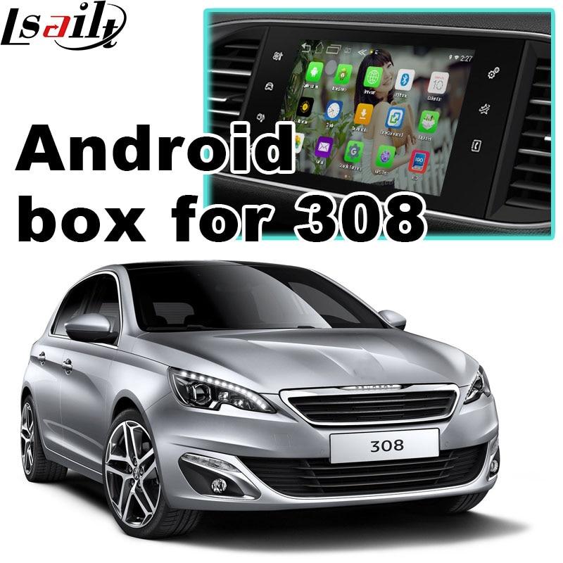 Android 6.0 GPS navigation box for Peugeot 308 MRN SMEG+ system video interface box mirror link youtube waze yandex navi
