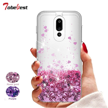 For LG Stylo 4 Glitter Liquid Case For LG Stylus 4 Silicone Coque For LG Stylo 4 Dynamic Qicksand Love heart Crystal Back Cover liquid crystal case