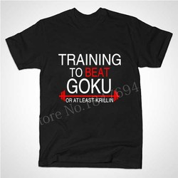 New 2015 summer style the dragon ball z t shirt train to beat goku krillin cotton.jpg 250x250