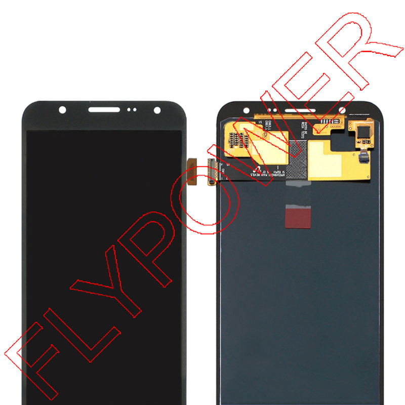 For samsung For galaxy J7 J700F J700 LCD Display with Touch Screen Digitizer Assembly White Black free shipping мужские футболки