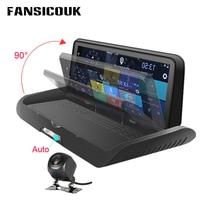 FANSICOUK 4G Car DVR 8'' Dashboard Android WiFi GPS Navigator Dual Lens Dash Cam 3G Car Video Recorder Rearview Car Camera