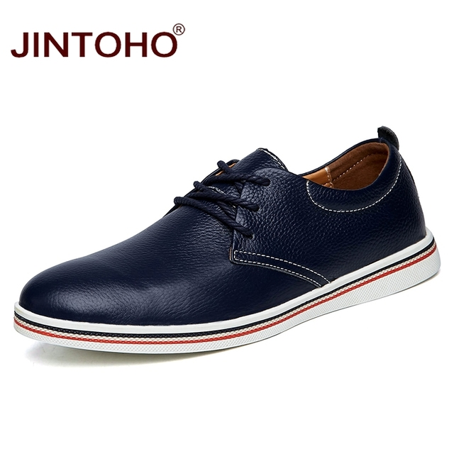 Big Size Men Genuine Leather Shoes Fashion Casual Leather Male Shoes