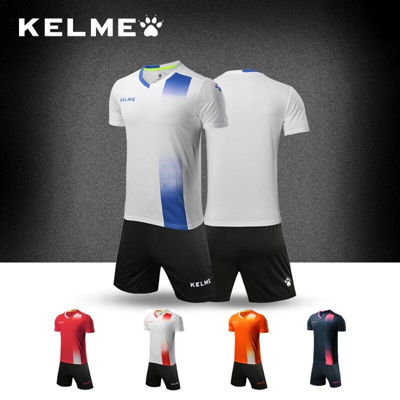 Kelme Carle Beautiful Football Serve Training Match Suit Male Customized Jersey Short Sleeve Light Panel Adult Official Jersey