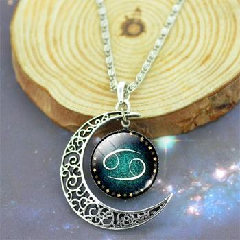 Cabochon Glass Silver Plated Necklace