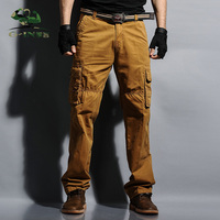 2016 Plus Size Sports Winter Double Layer Men S Cargo Pants Military Camouflage Outdoor Army Baggy