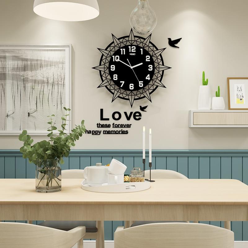 3D Large Wall Clock Digital Geometric Hanging Wall Clock Silent Modern Design Clocks Wall Watch With Wall Stickers Free Shipping