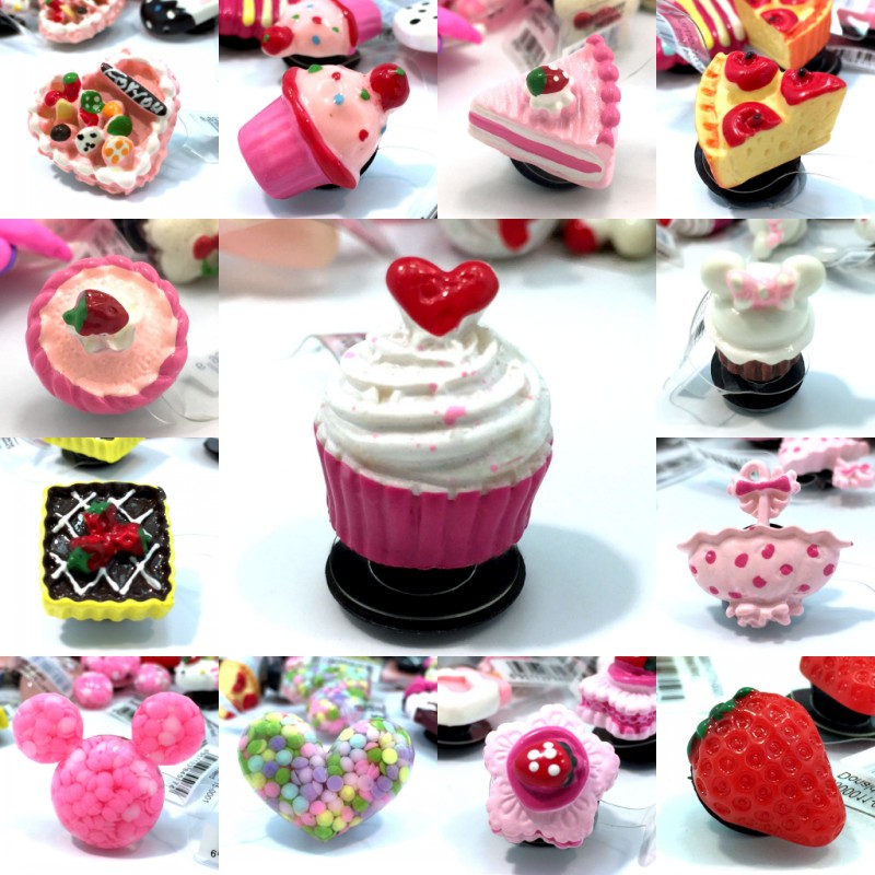 2pcs Cakes Kawaii Resin Shoe Charms Accessories Buckles Fit Wristbands Bracelets Croc Decoration JIBZ Kids Party Gifts