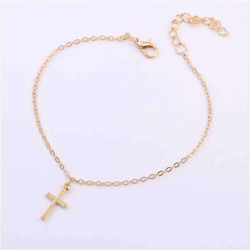 Punk 2018 New Fashion Anklets Summer Personality Wild Popular Simple Crosses Anklets Lady Legs Anklets Wholesale