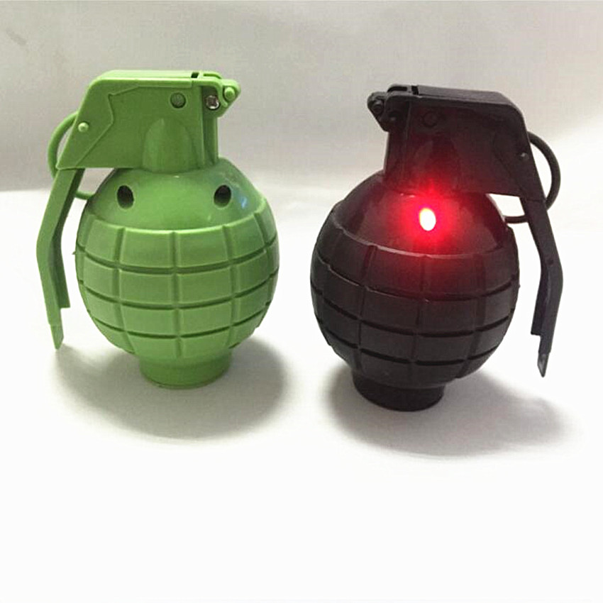 1PCS Jokes Gags Pranks Maker Outdoor Sports Sound and light simulation hand Grenade Funny & Tricky Toy For Kids image