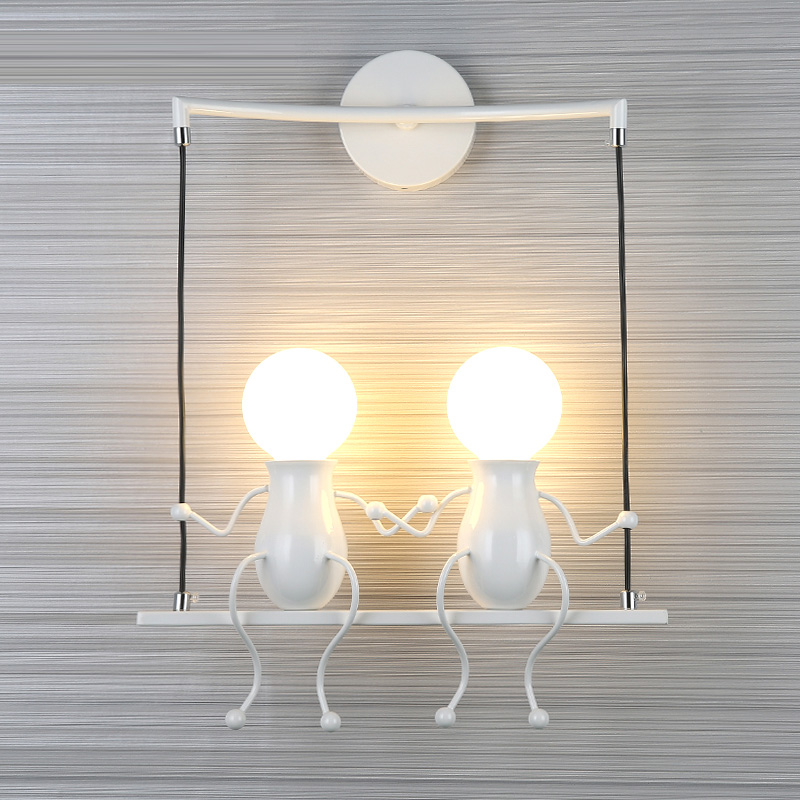 new modern simple and stylish wall lamps the spanish defender living room wall lights bedroom simple engineering fg636 Children's Wall light Simple Creative Wall Of Modern Living Room Bedroom Hallway Stairs Balcony Lamps Bedside LED Lamp