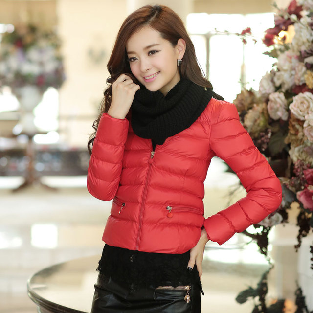 2013 winter women's casual fashion short design zipper small cotton-padded jacket down wadded jacket 02212213865