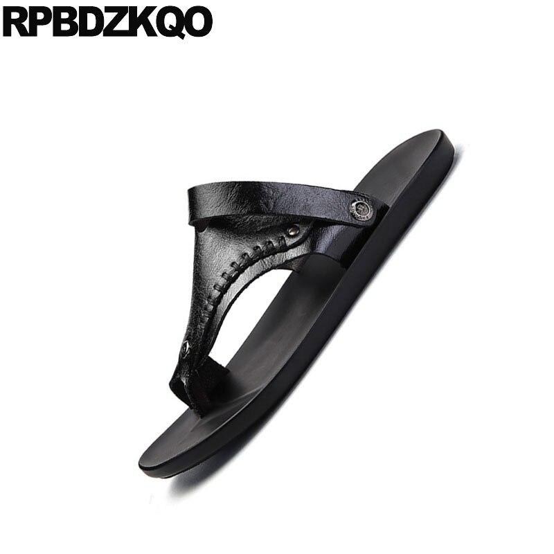 Boucles Noir Qualité Mode Boucle Haute D'été Blanc Air Sport Rivet En kaki Designer blanc Orteil Sandales Pantoufles Diapositives Chaussures Hommes Plein Native Cuir fvqwxqC