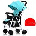 Boa Qualidade Leve Carrinho De Bebê, Vermelho/Azul Dobrável Luz Carrinho de Bebê, Carrinho De Bebê para 0-3 anos de Idade Menina/meninos