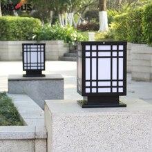 (WECUS) Wall pillar lamp, outdoor courtyard landscape rectangular wall door column lamp waterproof villa garden gate light