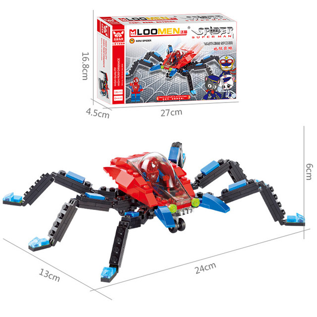 126pcs/set Spider Fighter Building Blocks Toy