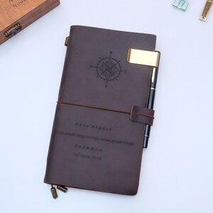 Image 5 - Carnet de voyage, agenda de voyage, planificateur de voyage, cuir véritable, gravure gratuite, 100%, cuir de vache, cadeau personnalisé, bricolage