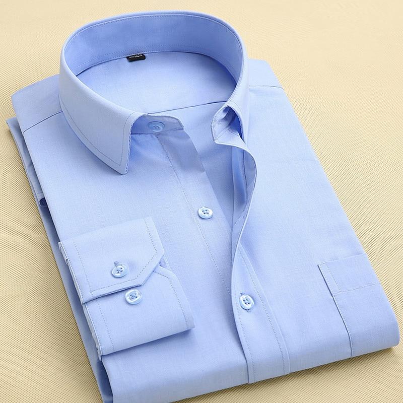 Camisa de vestir de manga larga de los hombres delgados 2017 otoño - Ropa de hombre - foto 4