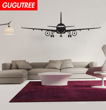 Decorate airplane aircraft plane art wall sticker decoration Decals mural painting Removable Decor Wallpaper LF-104