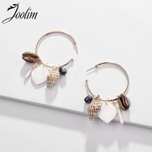 Joolim Jewelry Wholesale Natural Shell Sea Snail Hoop Earring Ocean
