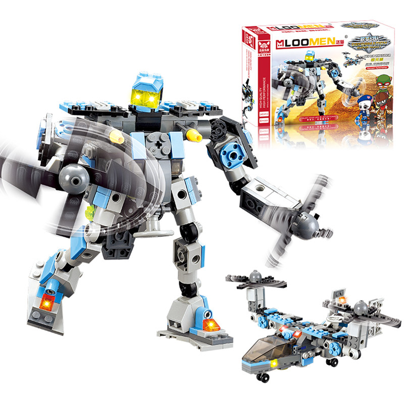 New Aircraft Robot Building Kits 245pcs/set Construction Bricks Sets Enlighten Child Educational Toys for kids gift