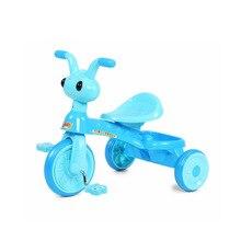 Children Three Wheel Balance Bike Baby Walker Tricycle Bike Ride Toys Kids Bicycle Portable Indoor Outdoor Trike Baby Walker