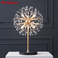 Firefly Crystal Table Lamp for Bedroom Starfish floor lamp Marble base floor lights for Living room Modern led table lights