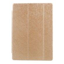 Случайных линий Зерно Tri-Fold Кожаный чехол для Huawei MediaPad M3 Lite 10-Золотой