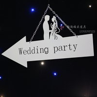 Wedding plates destination board wedding welcome card wedding props 2pcs/lot