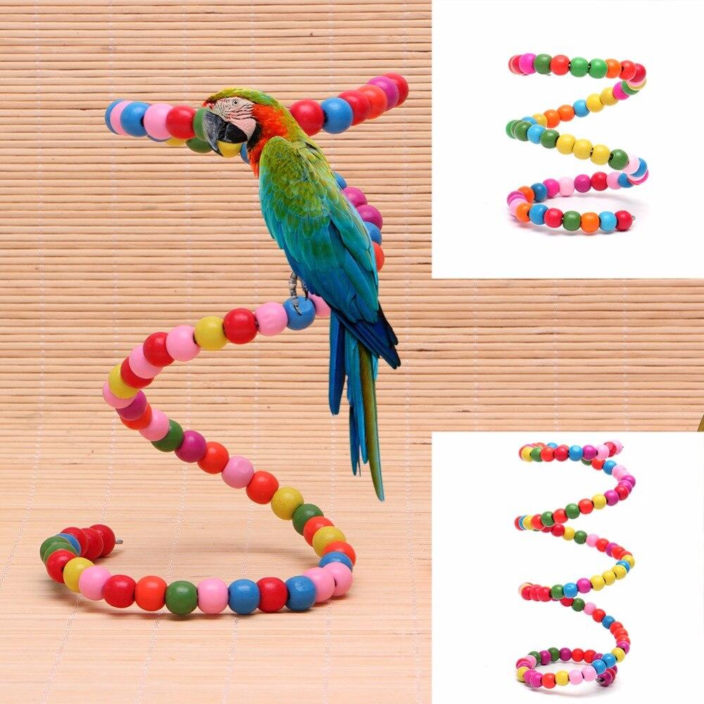 Pet Bird Parrot Rotate Ladder Climbing Cockatiel Parakeet Budgie Cage Chew Toy