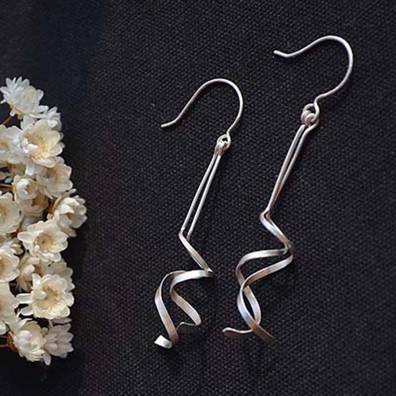 Long Bar Earrings Handmade Jewelry Gold Filled /925 Silver Vintage Brincos Minimalist Jewelry Oorbellen Earrings For Women