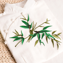 Bamboo Embroidery Clothing Cloth Decals Patch Sticker for Cheongsam Dress Clothes DIY Decoration Stylish Enthic(China)