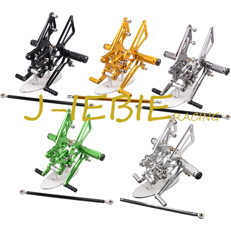 CNC Racing Rearset Adjustable Rear Sets Foot pegs Fit For Kawasaki NINJA ZX14R 2006 2007 2008 2009 2010 2011 morais r the hundred foot journey