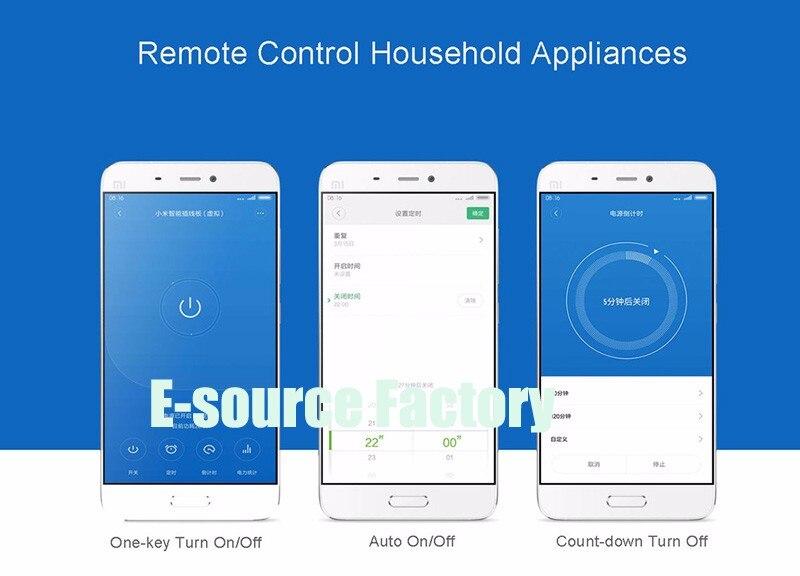 New Arrival Xiaomi Qingmi 3 Ports 3USB HotSmart Home Strip Socket Outlet Plug Smart Power Strip Wifi App Wireless Remote Power